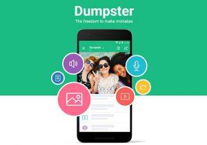 Dumpster auf das Smartphone laden
